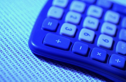 Stock Photo: 1598R-281004 Close-up of a calculator