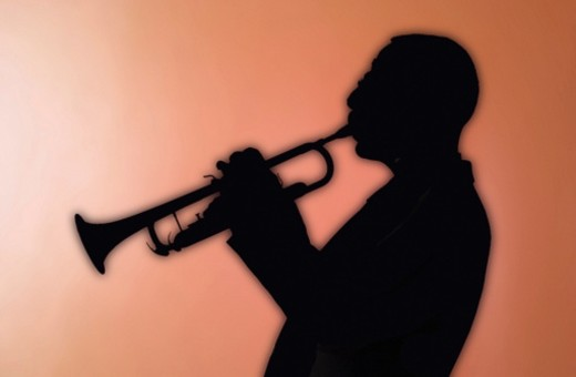 Stock Photo: 1598R-282780 Man playing a trumpet