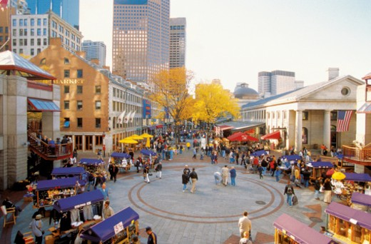 Stock Photo: 1598R-288033 Quincy Market in Boston, Massachusetts, USA