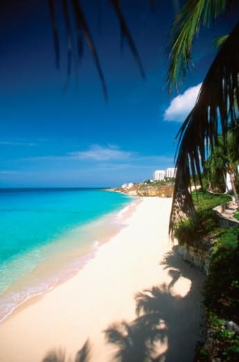 Stock Photo: 1598R-288130 Cupecoy Beach on St. Martin, Caribbean