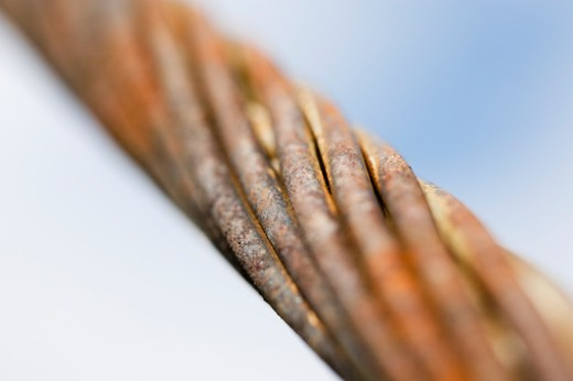 Close up of metal cable : Stock Photo