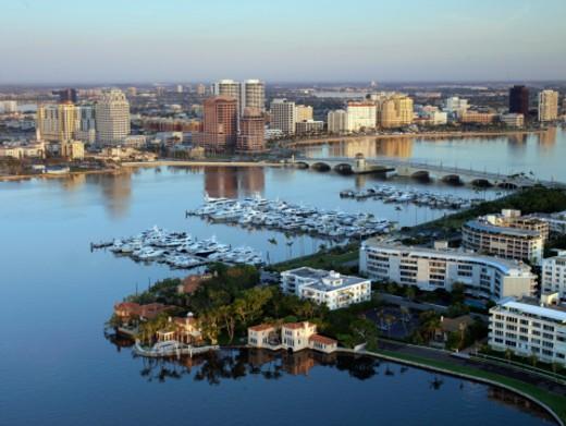 Stock Photo: 1598R-289754 USA, Florida, West Palm Beach, aerial view