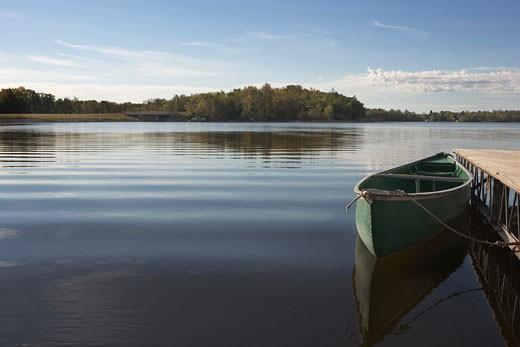 Stock Photo: 1598R-38481 Lake Metigoshe, Near Bottineau, North Dakota, USA
