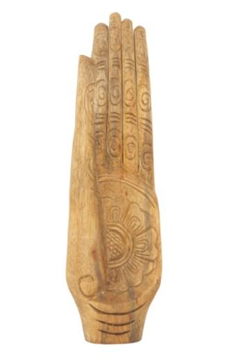Stock Photo: 1598R-4205 Wooden Buddhist mudra