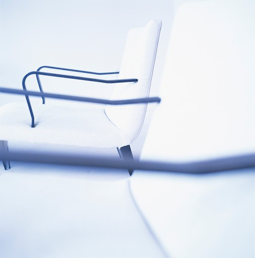 Two chairs, side view : Stock Photo