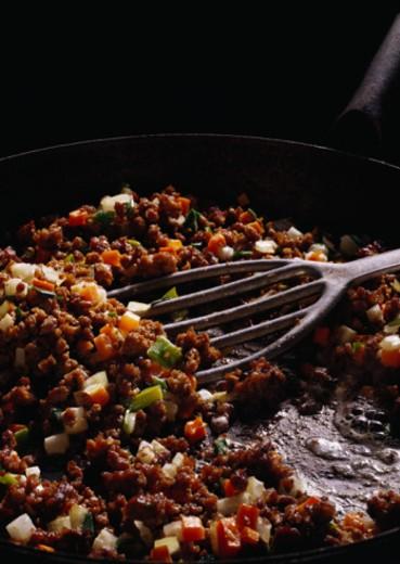 Ground Meat Pan Dish : Stock Photo
