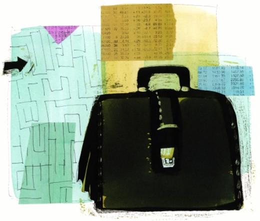 Black suitcase : Stock Photo
