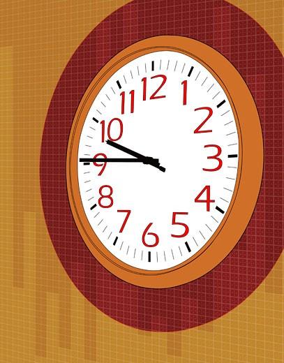 Clock, close-up : Stock Photo