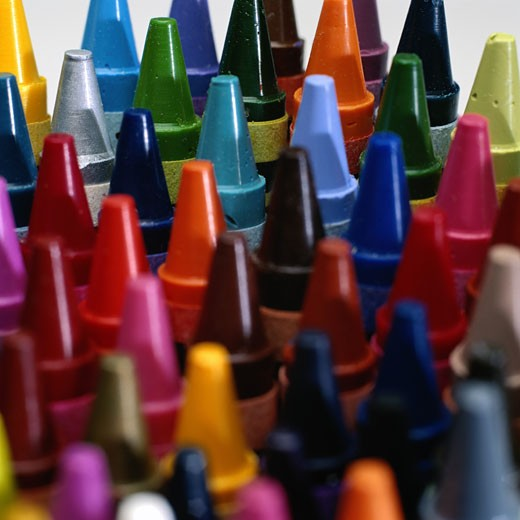 Crayons, close-up, full frame : Stock Photo