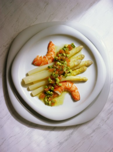 Stock Photo: 1598R-5484 Asparagus Salad with Shrimp