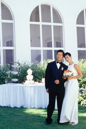 Bride and groom, portrait : Stock Photo