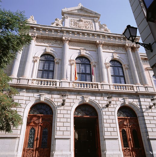 Historic city building facade : Stock Photo