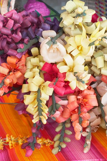 Stock Photo: 1598R-67704 High angle view of artificial flowers in a store