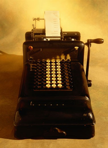 Stock Photo: 1598R-68596 Antique Adding Machine
