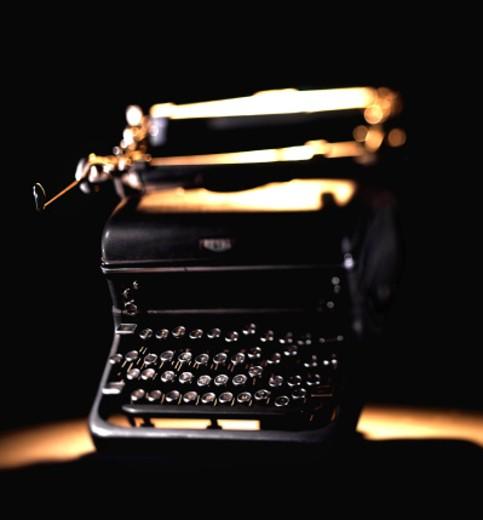 Stock Photo: 1598R-6873 Antique typewriter