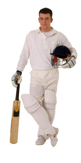 Cricket Player : Stock Photo