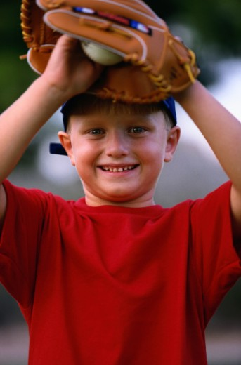 Stock Photo: 1598R-70776 Boy Playing Baseball