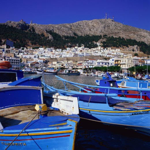 Town of Kalymnos in Kalymnos, Greece : Stock Photo