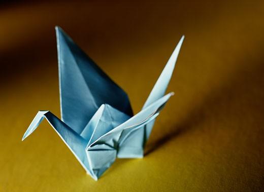 Stock Photo: 1598R-71149 Origami Crane