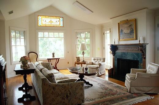 Stock Photo: 1598R-71395 Living Room