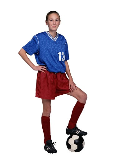 Stock Photo: 1598R-71813 Portrait of a Soccer Player