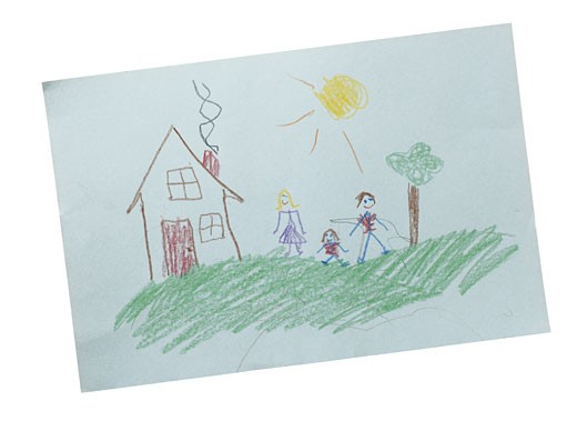Stock Photo: 1598R-71829 Child's Drawing