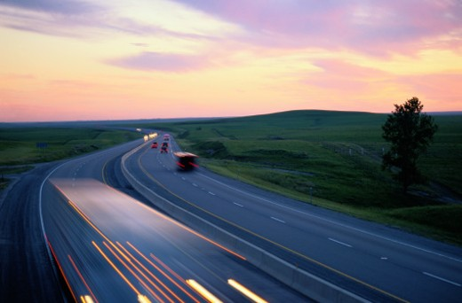 Highway Traffic, Kansas, USA : Stock Photo