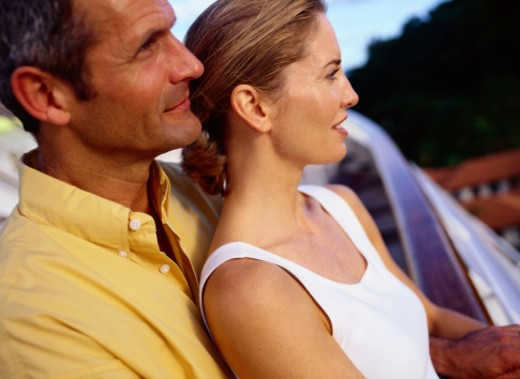 Stock Photo: 1598R-72632 Couple on a Cruise Ship