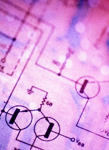 Detail of a Power Diagram : Stock Photo
