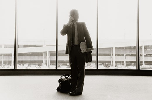 Businessman Talking on a Cellular Phone : Stock Photo