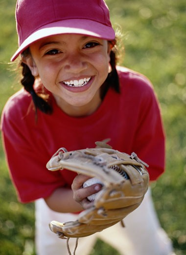 Stock Photo: 1598R-74003 Smiling Player