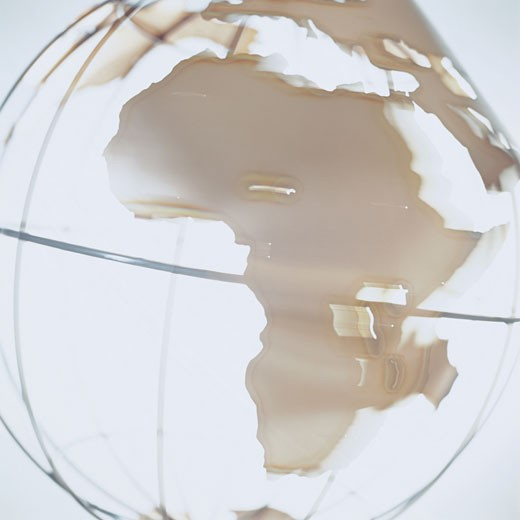 Africa on Globe : Stock Photo