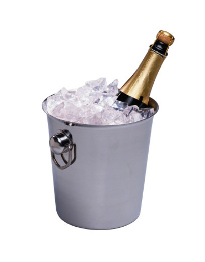 Chilled Champagne in Bucket : Stock Photo