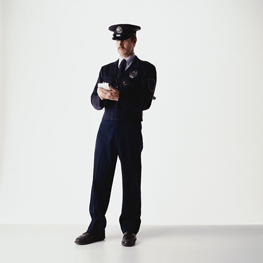 Stock Photo: 1598R-82385 Security Guard