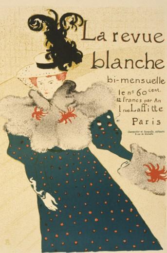 La Revue Blanche - A Monthly Publication : Stock Photo