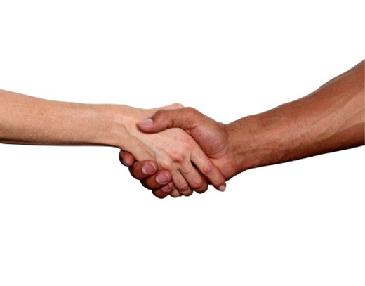 Stock Photo: 1598R-83310 Handshake