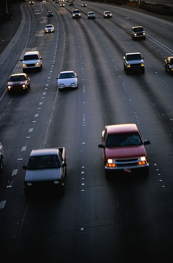 Cars on Highway : Stock Photo