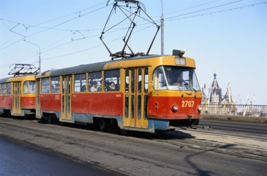 Electric Train  in Nizhny Novgorod : Stock Photo