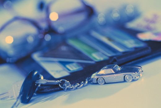 Stock Photo: 1598R-98603 Car key, close-up