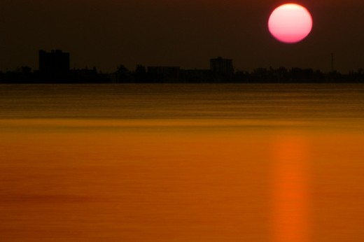 USA, Florida, Fort Myers skyline, sunrise : Stock Photo