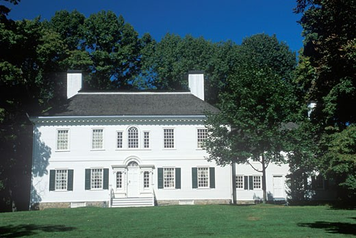 'Exterior of George Washington's headquarters from 1779 to 1780, Morristown, NJ' : Stock Photo