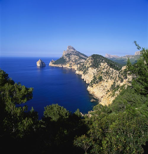 Sea and Cliffs by Cap de Formentor, Mallorca, Spain : Stock Photo