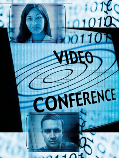 Video conferencing : Stock Photo