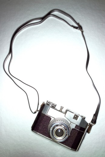 Stock Photo: 1598R-9942211 Old Fashioned Camera