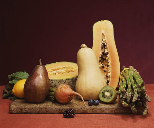 Stock Photo: 1598R-9943766 Still Life With Fruits and Vegetables
