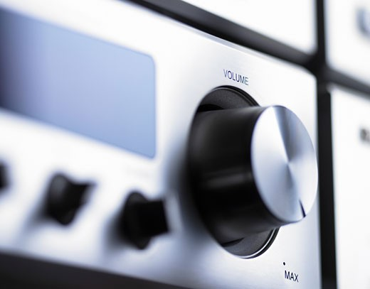 Stock Photo: 1598R-9944684 Close up of a Volume Button