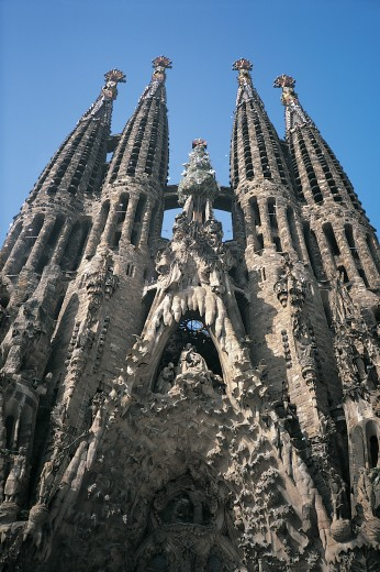 Stock Photo: 1598R-9944857 Sagrada Familia, Barcelona, Spain