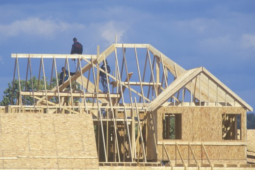 Stock Photo: 1598R-9946700 'New housing construction, West VA'