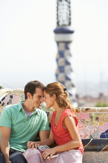 Stock Photo: 1598R-9949043 Parc Guell, Barcelona, Spain.