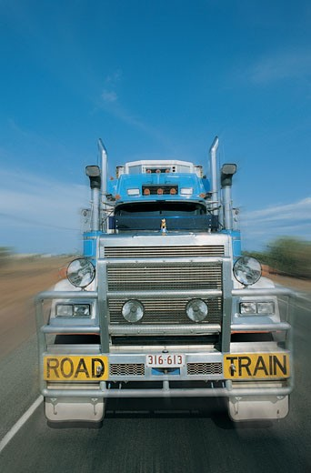 Front View of a Truck, Australia : Stock Photo